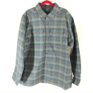 ExOfficio Mens Shirt Bruxburn Plaid Long Sleeve 2X